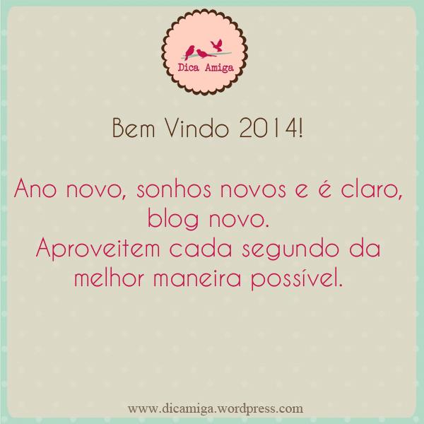 Feliz Ano Novo - Blog Dica Amiga