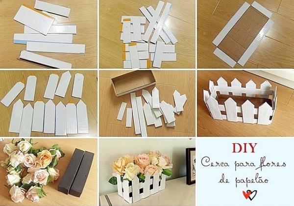 Faça você Mesmo - Cerquinha decorativa de papelão - Blog Dica Amiga
