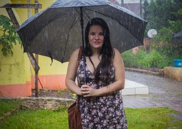 Look do dia com vestido decotado floral - Dica Amiga (13)